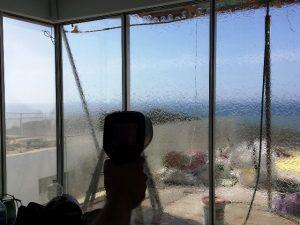 בדיקת המטרה נקודתית על חלון
